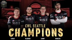 Rise Nation lift the CWL Seattle trophy