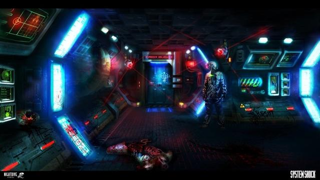 Sju mustiga minuter System Shock-gameplay