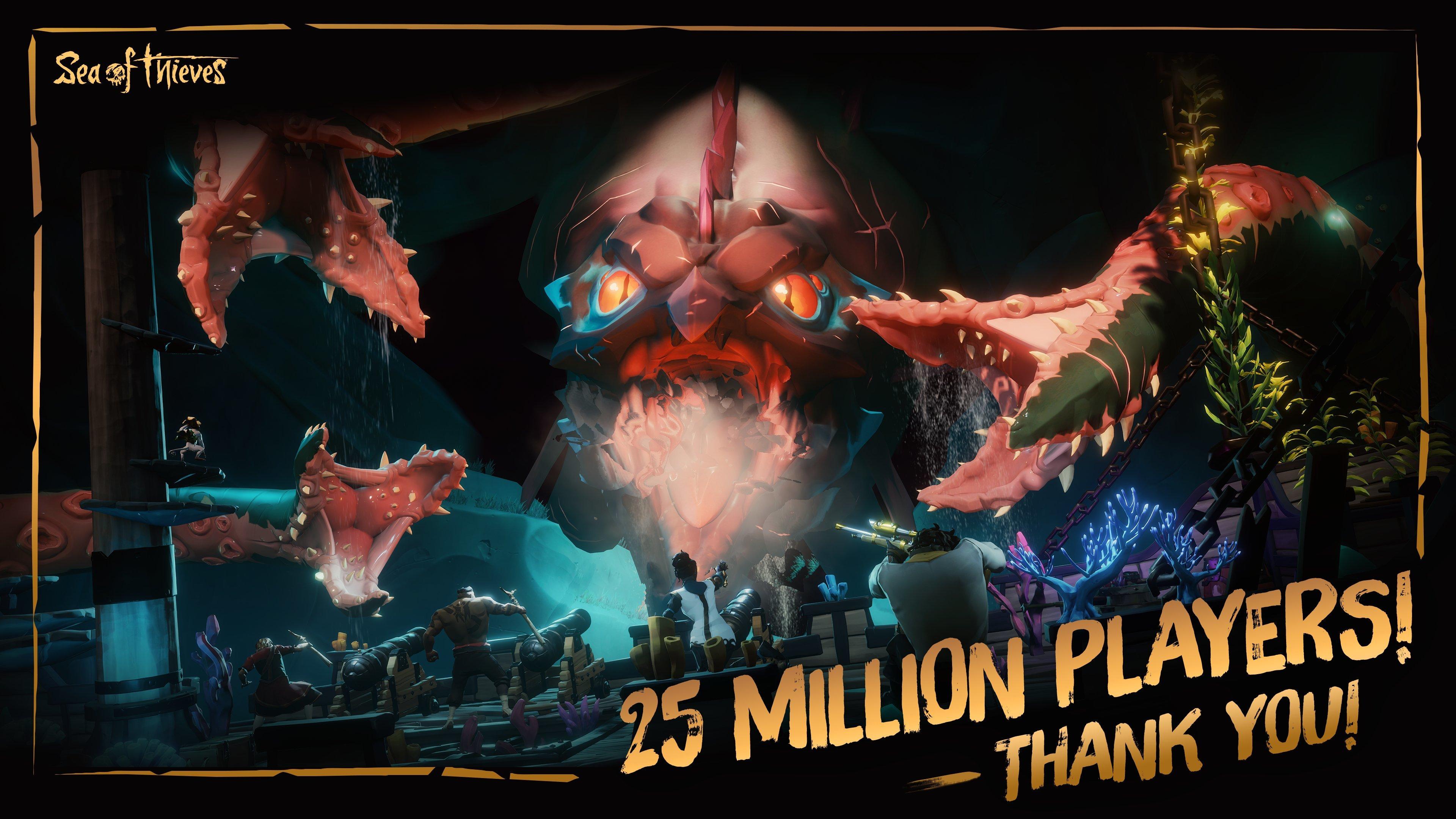 Sea of Thieves når 25 miljoner spelare och firar med gåvor