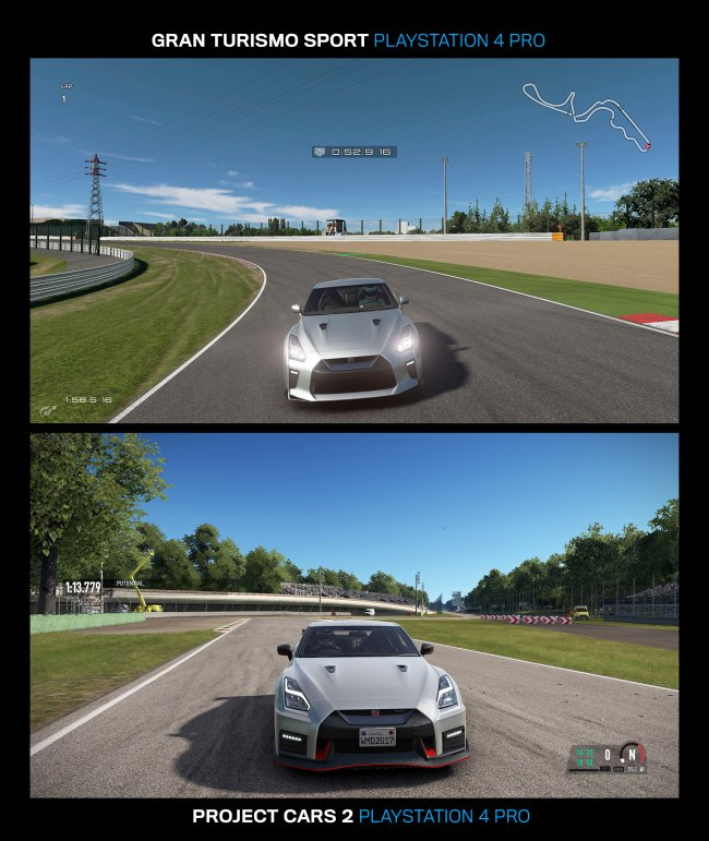 Grafikduell: Gran Turismo Sport vs Project Cars 2