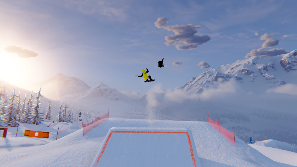 Besegra backarna i snowboard-spelet Shredders