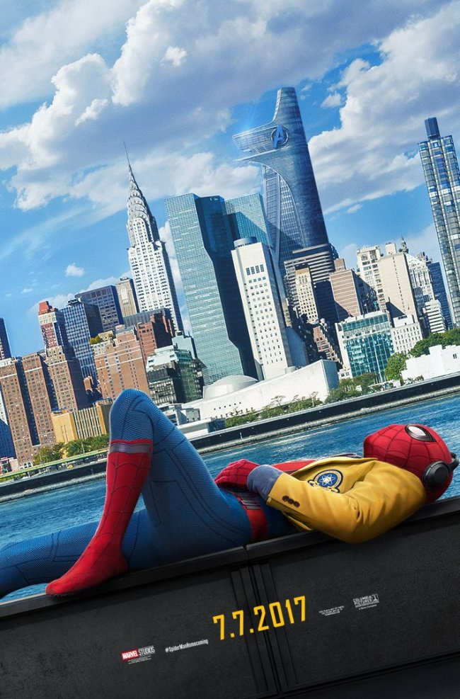 Spindelmannen chillar loss på ny Spider-Man: Homecoming-poster