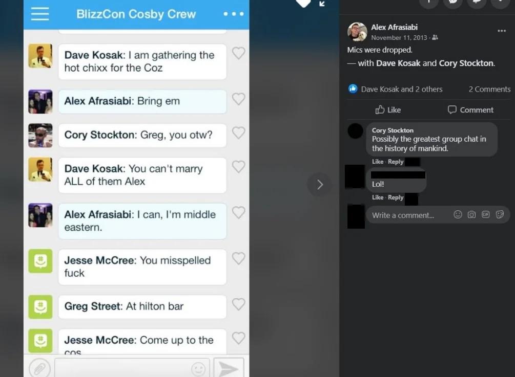 Activision Blizzard-anställda poserar med våldtäktsdömda Bill Cosby