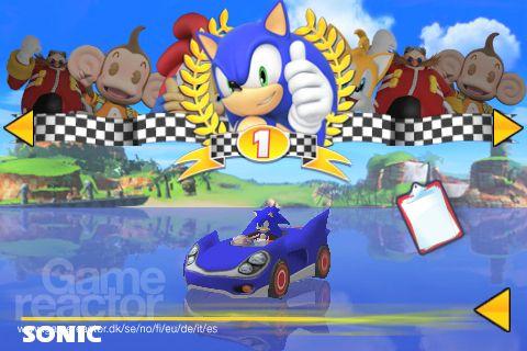 Скриншоты игры Sonic & SEGA All-Stars Racing для Android. Игровой проц