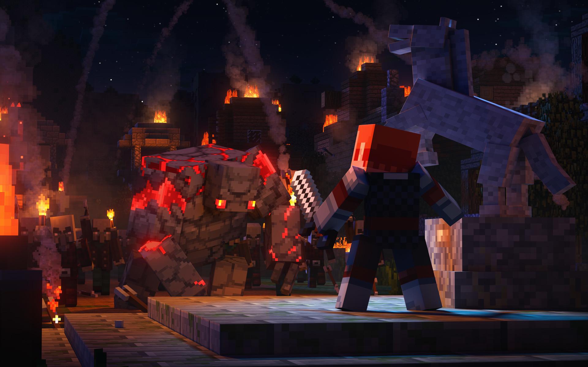Dagsfärsk lanseringstrailer för Minecraft Dungeons