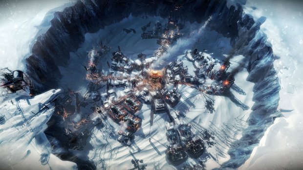 Bastion möter Cities: Skylines, This War of Mine och Anno i Frostpunk