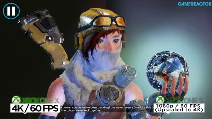Recore - Xbox One X/S-jämförelse