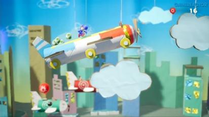 Yoshi's Crafted World - Altitude Adjustment Gameplay