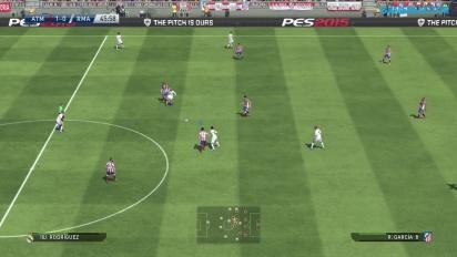 PES 2015 Gameplay - Atlético de Madrid vs. Real Madrid Full Match