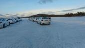 Vi gör oss redo för att köra bil på is