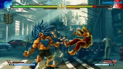 Vi klämmer på Blanka i Street Fighter V: Arcade Edition