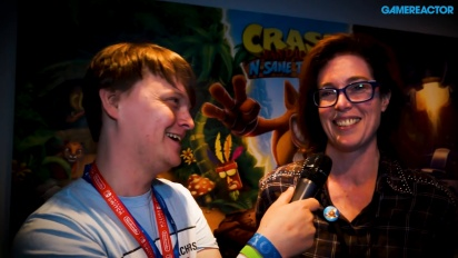 Crash Bandicoot: Nsane Trilogy - Kara Massie intervjuad