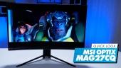 MSI Optix MAG272CQR - Quick Look