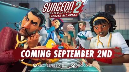 Surgeon Simulator 2: Access All Areas - Xbox Announce Trailer