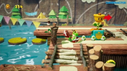 GRTV spelar Yoshi's Crafted World: Ride the River