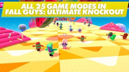 GRTV visar upp samtliga spellägen i Fall Guys: Ultimate Knockout