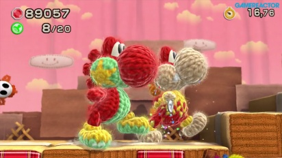 Yoshi's Woolly World - World 1 Co-op Gameplay