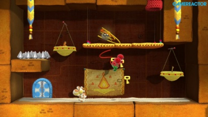 Yoshi's Woolly World - World 2 Co-op Gameplay