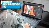 GRTV packar upp MSI Prestige 15