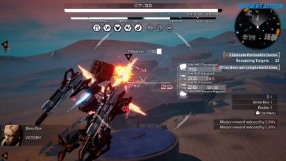 Daemon X Machina - Regular and Extra Mission Gameplay