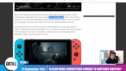 GRTV News - Is Alan Wake Remastered coming to Nintendo Switch?