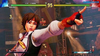 Street Fighter V: Arcade Edition - SF Alpha Path - Sakura vs Zangief