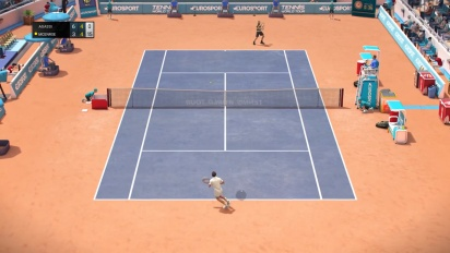 Tennis World Tour - John McEnroe vs Andre Agassi Gameplay