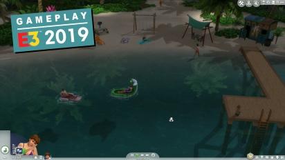 GRTV myser lite tillsammans med The Sims 4: Island Living