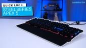 GRTV packar upp Steelseries Apex 5