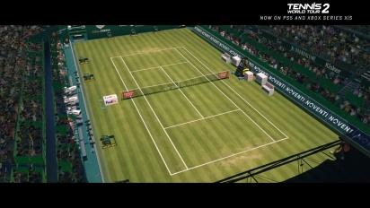 Tennis World Tour 2 - New-Gen Launch Trailer