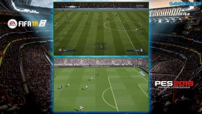 Vi ställer FIFA 18 mot Pro Evo Soccer 2018
