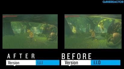 Vi jämför The Legend of Zelda Breath of the Wild före och efter V1.1.1-patchen
