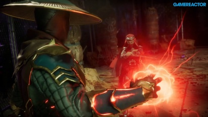 Mortal Kombat 11 - Raiden, Baraka, and Skarlet