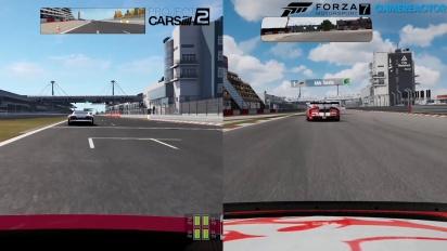 Jämförelse Forza Motorsport 7 mot Project Cars 2 mot Forza 6
