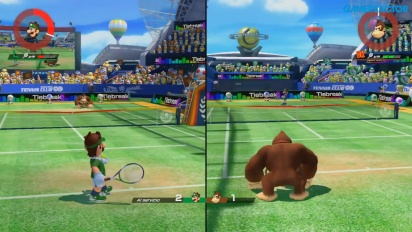 Mario Tennis Aces - Multiplayer på delad skärm