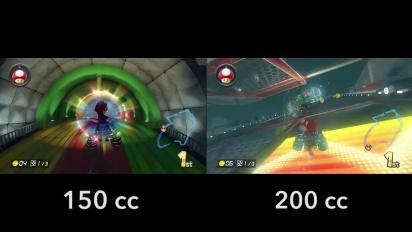Mario Kart 8 - 150cc vs 200cc Piranha Plant Pipeway Gameplay