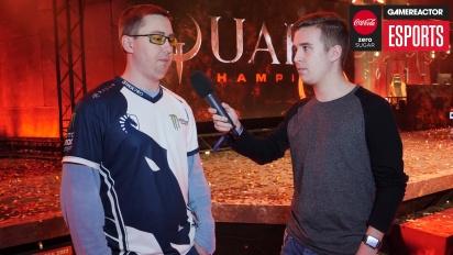 Quake Champions-tävlingen på Dreamhack - Intervju med Toxjq