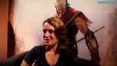 Assassin's Creed Odyssey - Lydia Andrew intervjuad