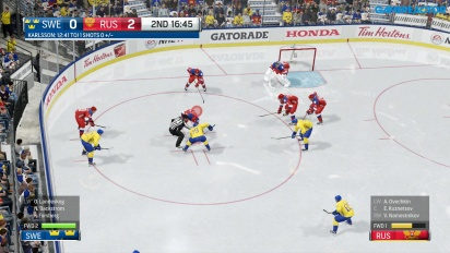 NHL 17 - Världskuppen: Sverige vs. Ryssland-gameplay