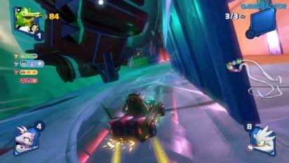 GRTV spelar Team Sonic Racing: Frozen Junkyard