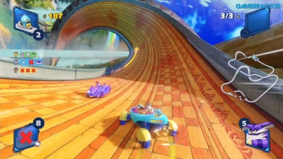 GRTV spelar Team Sonic Racing: Lost Palace Survival Race